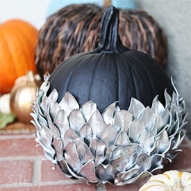 Silver Leaf Pumpkin | A Home for Design | Craft Collector