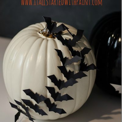 Bat Pumpkin | It All Started With Some Paint | Craft Collector