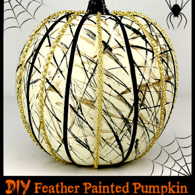 Feather Painted Pumpkin | I Love to Create | Craft Collector