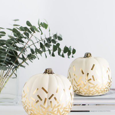 Gold Confetti Pumpkin | Homey Oh My | Craft Collector