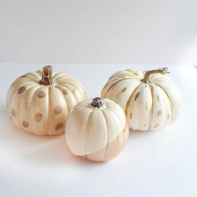 White and Gold Leaf Pumpkins | Run to Radiance | Craft Collector