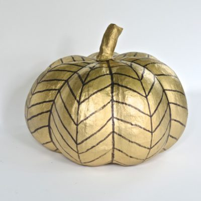 Black and Gold Pumpkin | Ciburbanity | Craft Collector