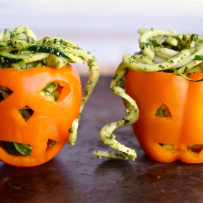 Zoodles and Kale Pesto in Pepper Pumpkins | Tasting Page | Craft Collector