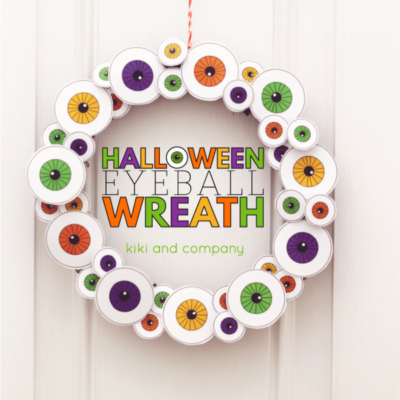 Halloween Eyeball Wreath | Kiki and Company via See Vanessa Craft | Craft Collector