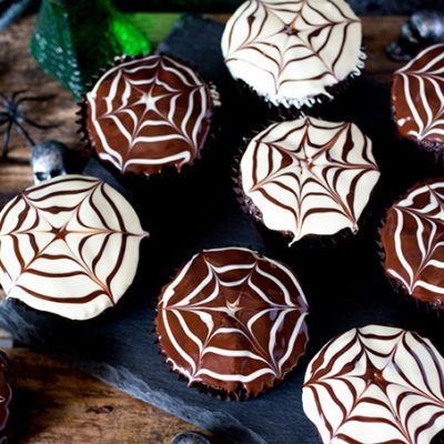 Spiderweb Cupcakes | Nicky's Kitchen Sanctuary | Craft Collector