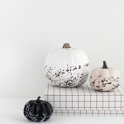 Splatter Paint Pumpkins | Homey Oh My | Craft Collector