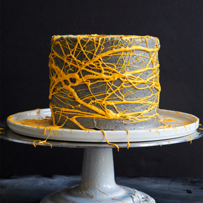 Black Seasame Cake with Marshmallow Web | Little Epicurean | Craft Collector