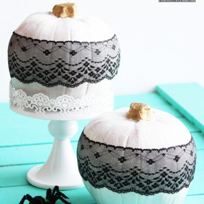 Black Lace Pumpkins | Positively Splendid | Craft Collector
