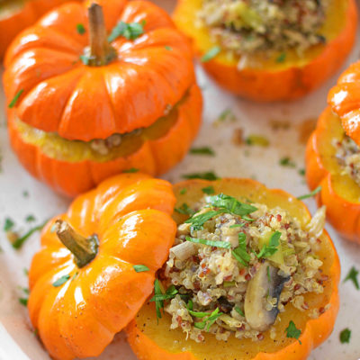 Mushroom and Quinoa Stuffed Mini Pumpkins | Simply Seasonal | Craft Collector