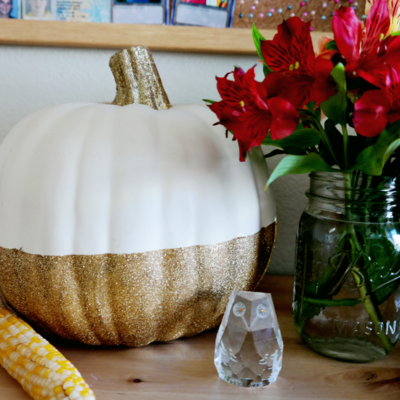 Glitter Dipped Pumpkin | Make Scout | Craft Collector
