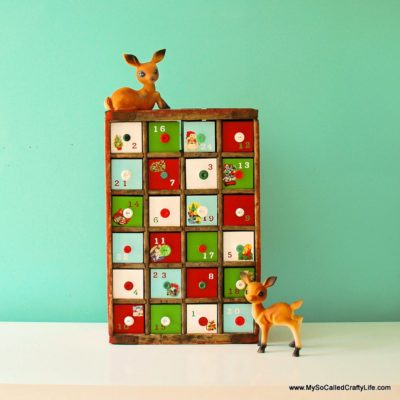 Vintage Soda Crate Advent Calendar | My So Called Crafty Life | Craft Collector