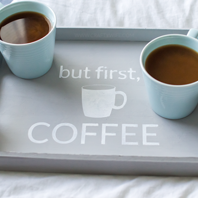 Coffee Breakfast Tray | Simply Made Fun | Craft Collector