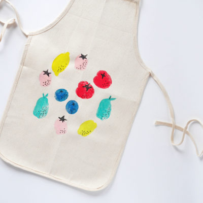 Potato Stamp Apron | Hello, Wonderful | Craft Collector