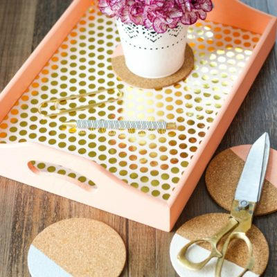 Gold Leaf Tray | The Casual Craftlete | Craft Collector
