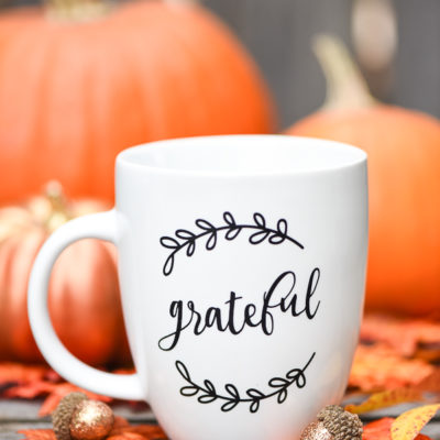 Grateful Coffee Mugs | A Pumpkin and a Princess | Craft Collector