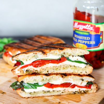 Roasted Red Pepper and Basil Grilled Cheese | Domestic Superhero | Craft Collector