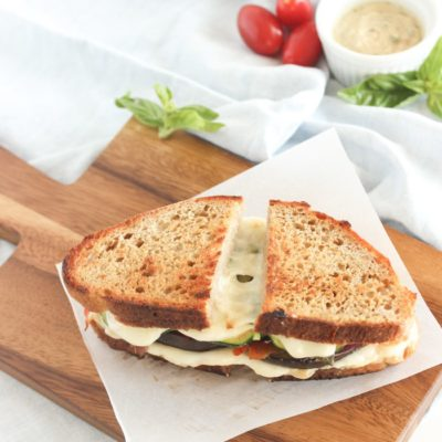 Veggie Hummus Grilled Cheese | Lively Table | Craft Collector