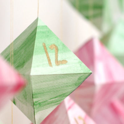 Geometric Watercolor Advent Calendar | We Can Make Anything | Craft Collector