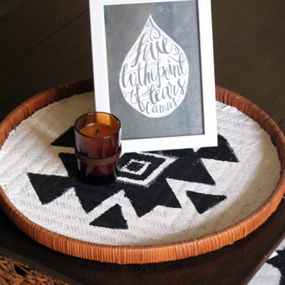 Wicker Tray | Makeover Lemon Jitters | Craft Collector