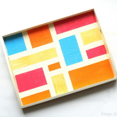 Colorblocked Tray | Design Dining and Diapers | Craft Collector