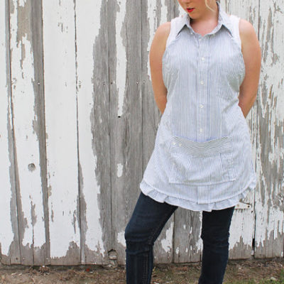 Men's Dress Shirt Apron | Love Grows Wild | Craft Collector