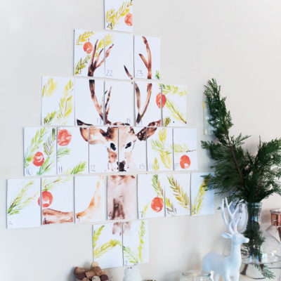 Deer Advent Calendar Wall Art | Place of my Taste | Craft Collector