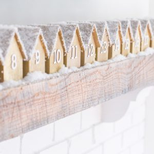 Wooden Houses Advent Calendar | Sugar and Charm | Craft Collector