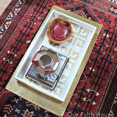 Gold Stencil Tray | Our Fifth House | Craft Collector