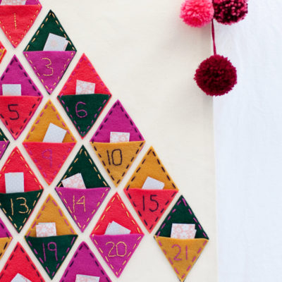 Felt Banner Calendar | Tell Love and Party | Craft Collector