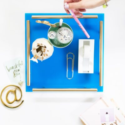 Acrylic Gold Bar Tray | Lovely Indeed | Craft Collector