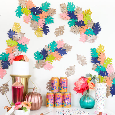 Colorful Leaf Wall Art | A Kailo Chic Life | Craft Collecor