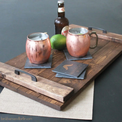 Stained Wooden Tray | Beckham and Belle | Craft Collector