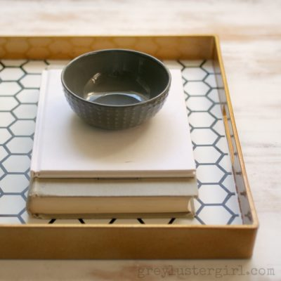 Honeycomb Tray | Grey Luster Girl | Craft Collector