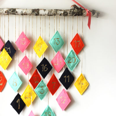 Felt Hanging Advent Calendar | The Sweet Escape | Craft Collector