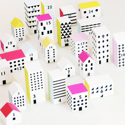 Printable Paper City Advent Calendar | Mr. Printable | Craft Collector
