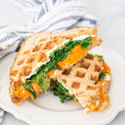 Vegan Waffled Grilled Cheese with Sweet Potato | Kale Me Maybe | Craft Collector
