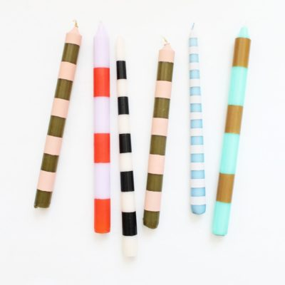 Colorful Tapered Candles | Lindsey Crafter | Craft Collector