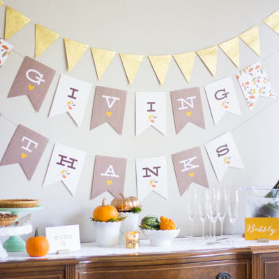 Giving Thanks Banner | Design Improvised | Craft Collector