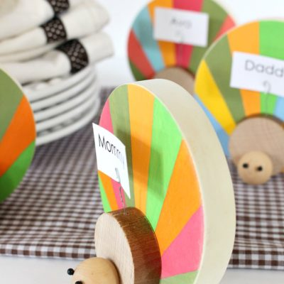Colorful Turkey Name Plates | Lolly Jane | Craft Collector